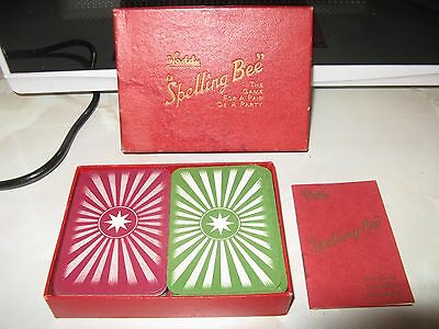 "Vintage Waddy Card Game ""Spelling Bee"" in Original Box"