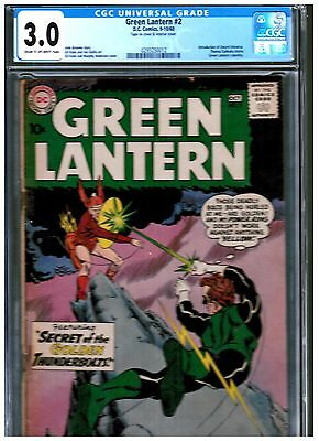 Green Lantern #2 Cgc 3.0 Blue Intro To Qward Universe First Pieface
