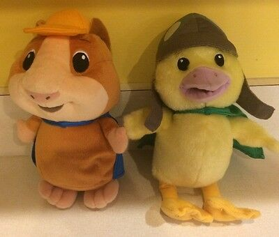 "WONDER PETS Plush 9"" LINNY Guinea Pig 10"" MING MING Duck lot"