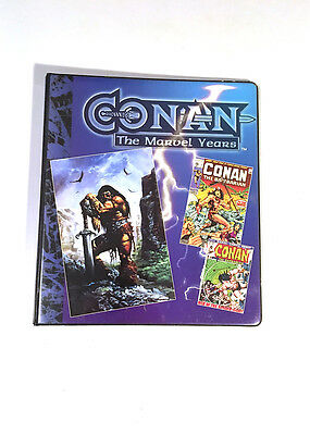 Conan the Barbarian The Marvel Years Trading Cards Binder Only Comic Images 1996