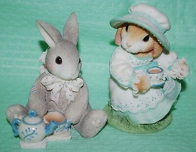 Lot 2 My Blushing Bunnies Daisy Hare -Tea & Friendship Hit The Spot & Blessing