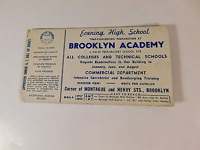 Vintage Brooklyn Academy Advertising Blotter - FREE SHIPPING