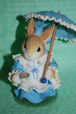 1998 Enesco MY Blushing Bunnies - Clarissa Cottontail - Tea with You is Sweet