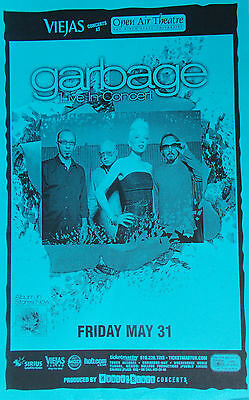 GARBAGE POSTER Open Air Theater San Diego