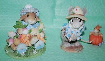 Lot 2 MY Blushing Bunnies An Abundance of Blessings & Wherever You Go, Blessings