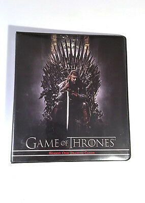 Game of Thrones Season One 1 Trading Cards Binder Only Rittenhouse 2012