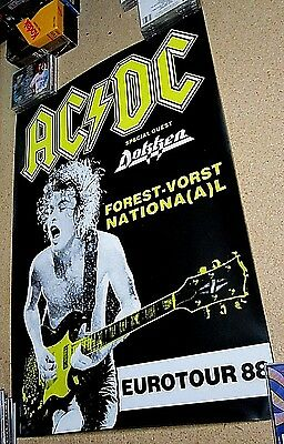 """AC/DC - EUROTOUR88 Poster with Dokken 33 1/4"""" x 23 1/4"""""""