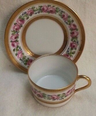 Vintage Theodore Haviland Limoges France Cup and Saucer Set-Peony