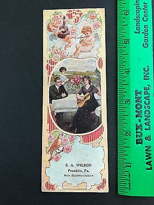Franklin PA Venango County AD Book Mark Instrument WESER PIANO Picture CARD