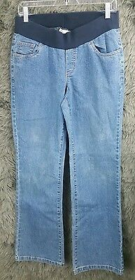 Announcements Maternity Jeans Under Belly Blue Denim Women's Size Small (4/6)