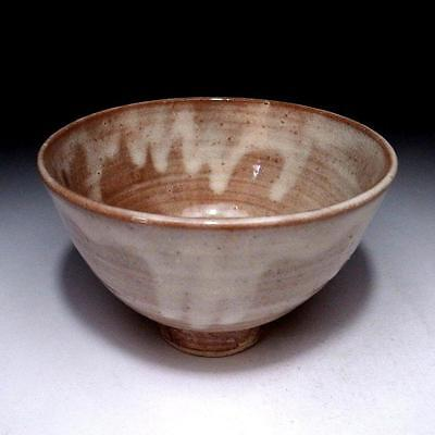 FN9: Vintage Japanese Pottery Tea Bowl, Hagi ware