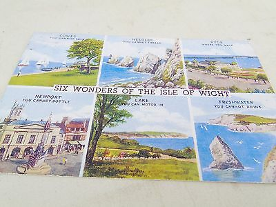 Vintage Six Wonder Of The Needles Cowes  Iowa Isle Of Wight  Postcard Post Card