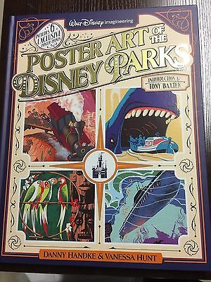 NEW Disney Imagineering Poster Art of the Disney Parks Book + 6 Poster Set