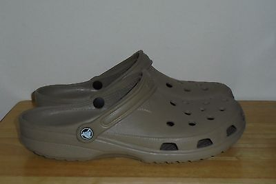 Men's Brown Slip-on CROCS Size US 12 - 13 GREAT Condition