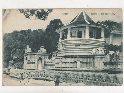 Kandy Temple Of The Holy Tooth Ceylon Vintage Postcard 383b