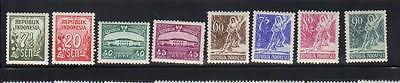 Indonesia 8 MLH stamps