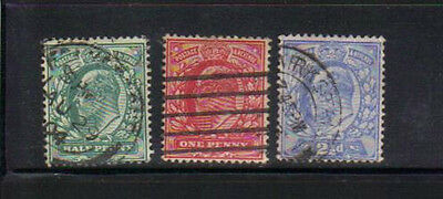 Great Britain 3 Old Used stamps