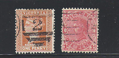 Australia 2 old used stamps