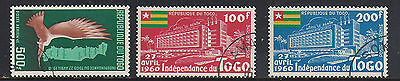 Togo 3 old used stamps Airmail