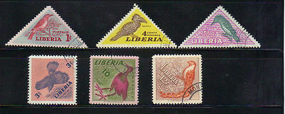 Liberia 6 old used stamps