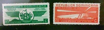 Dominican Republic 2 MH stamps Airmail