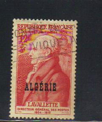 Algeria old used stamp with overprint
