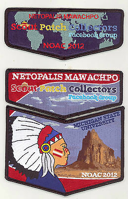 Scout Patch Collectors Facebook Group 2012 NOAC 3-Patch Set Netopalis Mawachpo