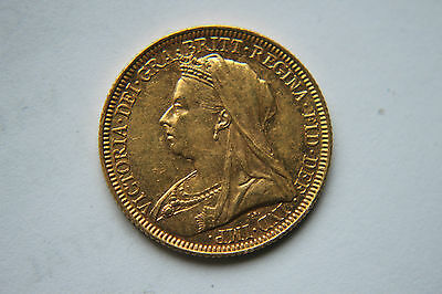 1894  Victoria  Full Gold Sovereign Coin