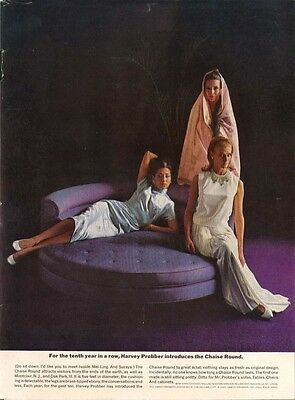 10th Anniversary Chaise Round by Harvey Probber ad 1961