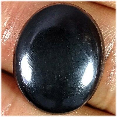 24.40Cts. 100% NATURAL HEMATITE OVAL CABOCHON LOOSE UNTREATED GEMSTONES