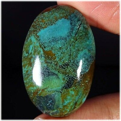 41.20Cts. 100% NATURAL UNTREATED TIBET TURQUOISE OVAL CABOCHON LOOSE GEMSTONES