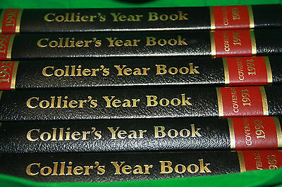 COLLIER'S YEAR BOOK 1990 HARD COVER FREE SHIPPING AUSTRALIA-WIDE one book only