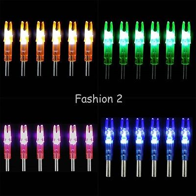 6Pcs Hunting Lighted Nock Led Lighted Luminous Tail Arrow Nocks Colored Parts
