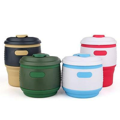 350ml Foldable Soft Silicone Coffee Cup Home Travel Camping Tea Cup Mugs B