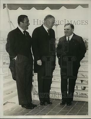 1939 Press Photo New York Ex President Herbert Hoover at Worlds Fair NYC