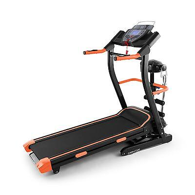 Appareil Cardio Training Gym Complet Tapis Course Electrique Massage Noir Orange