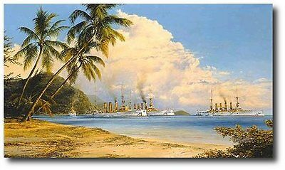 Robert Taylor LE Print PEACEFUL ANCHORAGE Scharnhorst WW1 Imperial German Navy