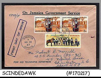 JAMAICA - 1967 Centenary of the Constabulary Force (POLICE FORCE) - 3V - FDC
