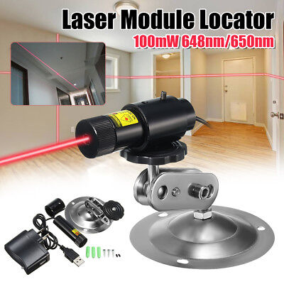 650nm 100mW Red Laser Line Module Locator For Cutting Machine + Adapter & Mount