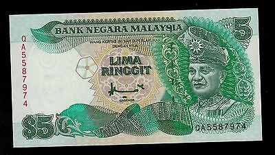 Malaysia 5 Ringgit  ( 1995 )  Pick # 35 Unc Banknote.