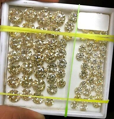 50 ct lot 1 ct to 3 ct loose moissanite Fancy brown color Round brilliant cut NR