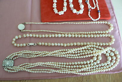 Collection Of Vintage Pearl Items, Some Fresh Water Some Imitation Pearls