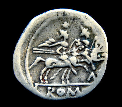 517-INDALO- Roman Republic. Anonymous AR Denarius, 240-217 BC !!!!!!!!!!!!!!!!!!