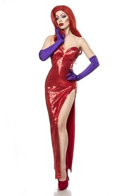 Costume donna carnevale cartoon jessica rabbit cosplay abito sensuale uy 80110