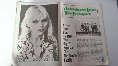 BLONDIE Debbie Harry 'makeover' 4 page UK ARTICLE / clipping