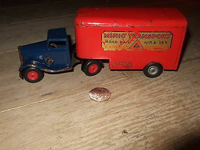 Triang Minic Transport Express Service Lorry Vintage Tinplate Clockwork Rare