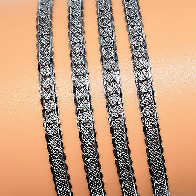 Hot Stainless Steel Men Fashion 5MM Width 20Inch Fashion Chain Link Necklace D1