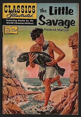 Classics Illustrated #137 HRN 148 F- 5.5 OW/W The Little Savage