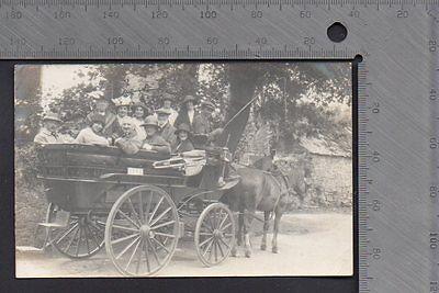 Isle of Man - Horse drawn carriage with passengers RP