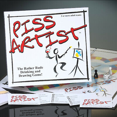 Piss Artist the Rather Rude Drinking and Drawing Game - Party Adult Board